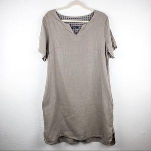 Lungo L'Arno Lagenlook Linen Tunic Dress Top